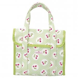 GreenGate Lunch Väska liten, Cherry Berry Pale Green