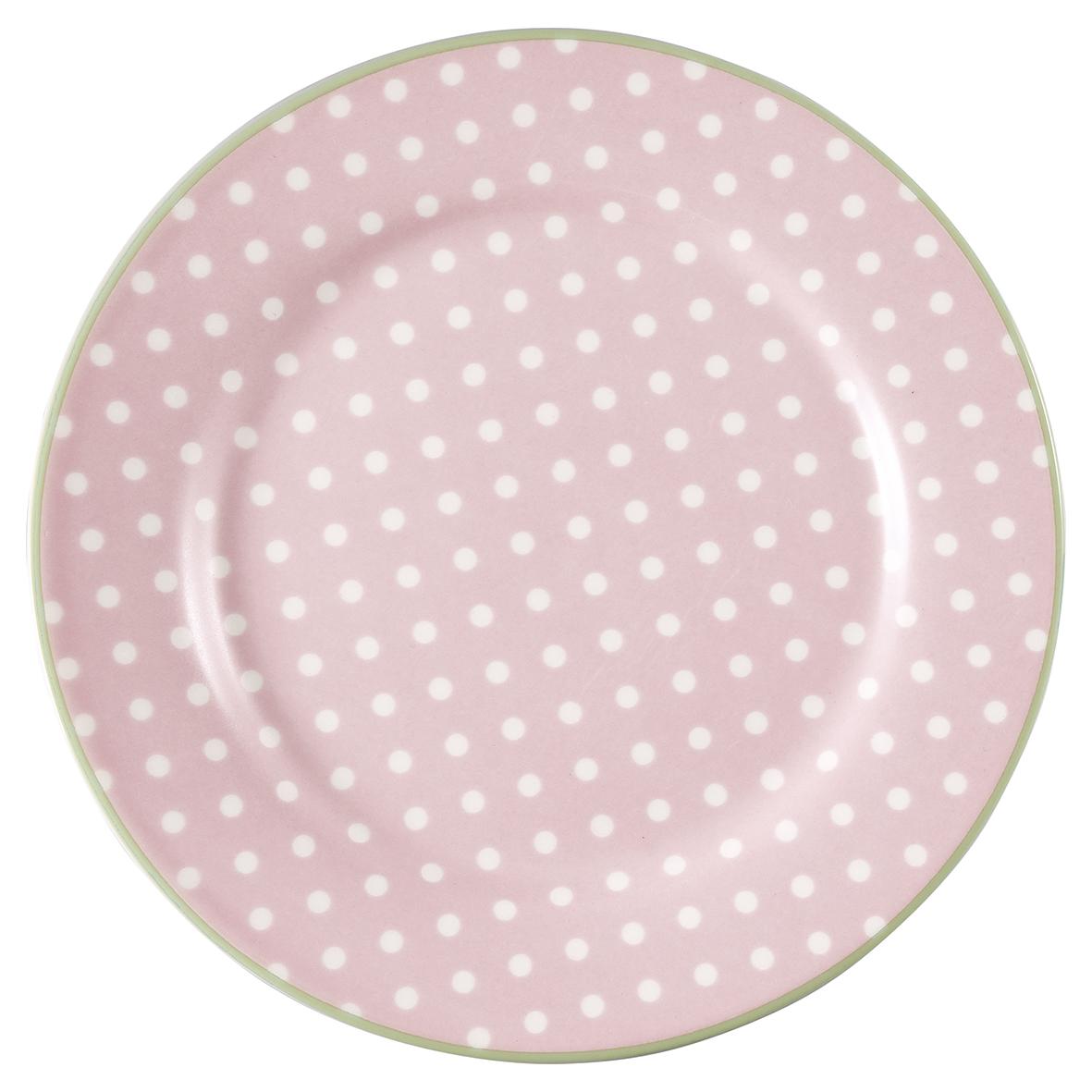 GreenGate Assiett, Spot Pale Pink