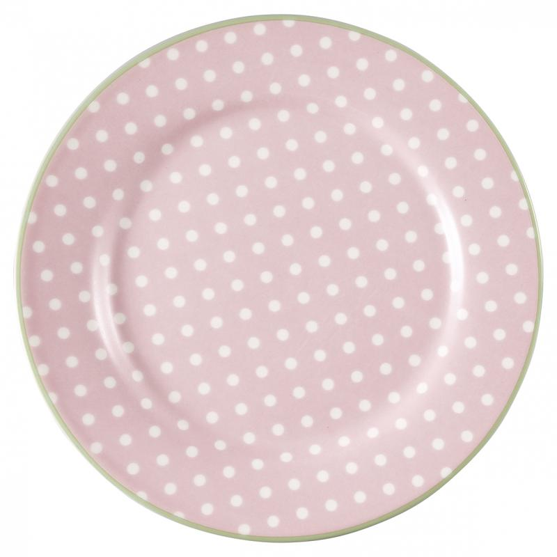 GreenGate Assiett, Spot Pale Pink
