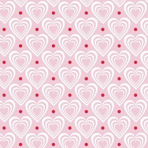 Ambiente Servetter - Hearts in hearts pink