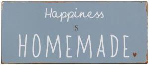 "IB Laursen Metall Skylt ""Happiness is homemade"""