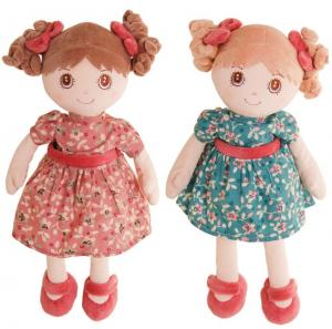 Docka Ninka & Nadinka-rosa klänning- Bukowski