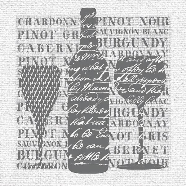 Ambiente Servetter - Wine Grey