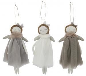 Ängel med grå tyllklänning, IB Laursen