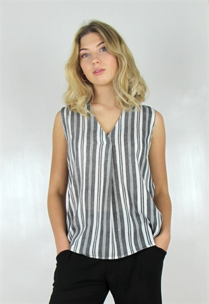 GIANNA TOP, BLACK/CREME