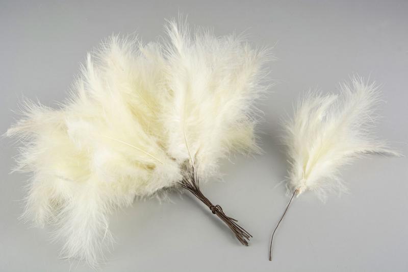 Fjädrar till riset, ljusgul (vippor)