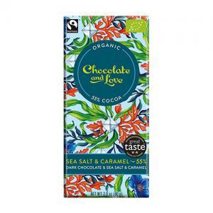 Mörk choklad 55% - med sea salt och karamell