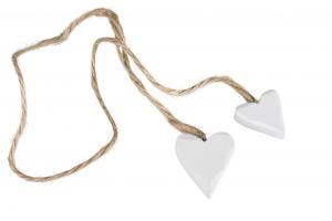 Trähjärtan (2 vita i rep)