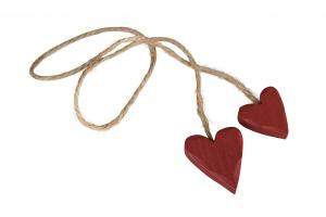 Trähjärtan 3 cm (2 mörkröda i rep)
