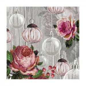 Ambiente Servetter - Roses and baubles