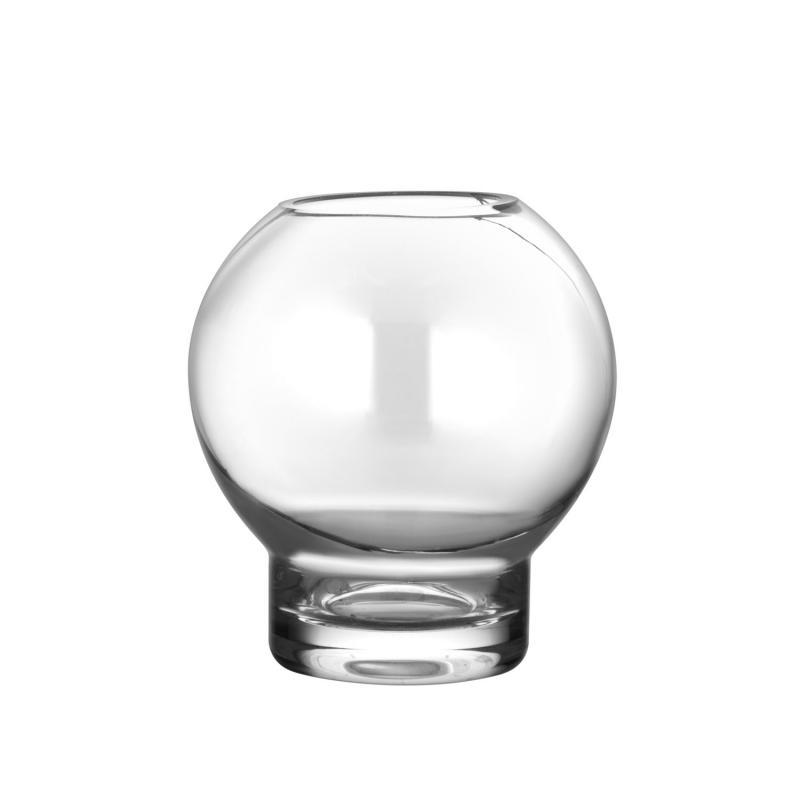ERNST Vas/värmeljuslykta i kupat glas, H 10cm