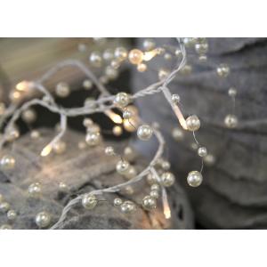 Toft - Ljusslinga med vita pärlor (el)