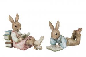 Kaninpojke som ligger och läser - A lot