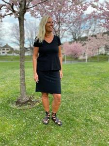 Sweatshirt kjol, stonewashed svart (Cissi) - Mix by Heart