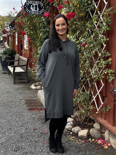 Sweatshirtklänning, grå - Mix by Heart