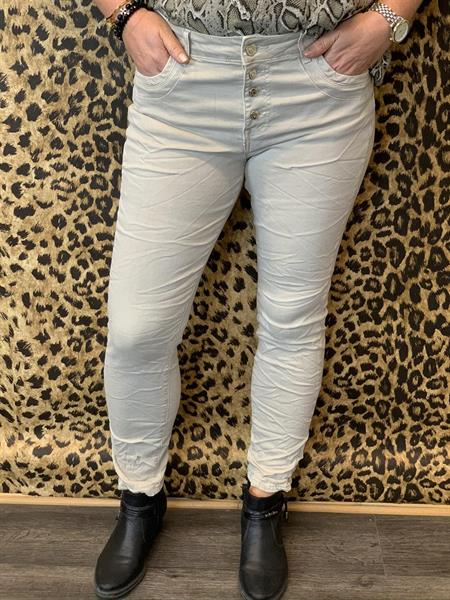 Jeans med knappar, Beige (Wilma) - Mix by Heart