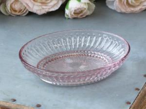 Ib laursen Tvålkopp i rosa pressglas