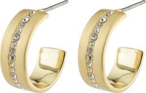 CASEY små hoops m. kristalldekor guldpläterade – Pilgrim