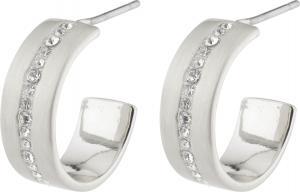 CASEY små hoops m. kristalldekor silverpläterade – Pilgrim