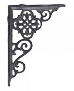 Chic Antique Konsol, antikgrå gjutjärn 17x12 cm