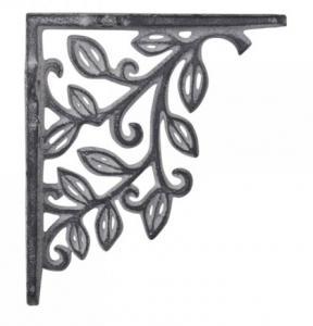 Chic Antique Konsol, antikgrå gjutjärn 12,5x14 cm