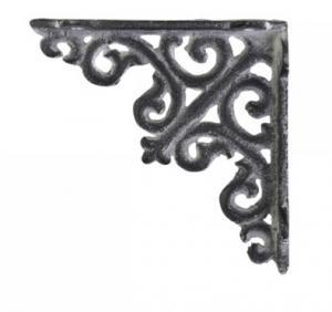 Chic Antique Konsol, antigrå gjutjärn 10x10 cm