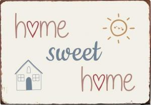 "IB Laursen Metall Skylt ""Home sweet home"""