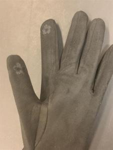 Handskar med knappar, Svart (Trinny) - Mix by Heart