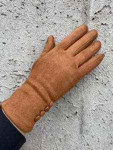 Handskar med knappar, Kamel (Trinny) - Mix by Heart