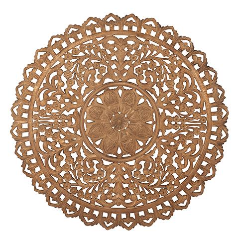Carve Tempeltavla, rund Natur/ Guld (dia: 115 cm) 770-484-00 - Beställningsvara