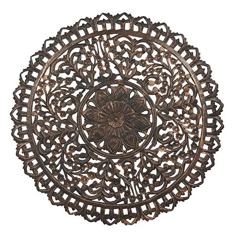 Carve Tempeltavla, rund Svart/ Guld (dia: 115 cm) 770-484-60 - Beställningsvara