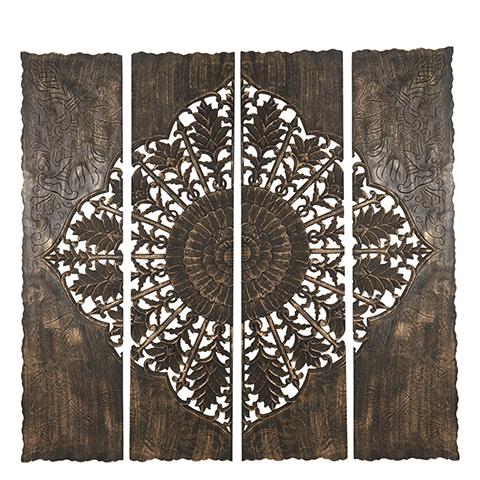 Carve Tempeltavla , Svart/guld XXL (180x180 cm)(770-498-60) - Beställningsvara