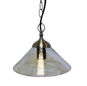 Lampa med glas