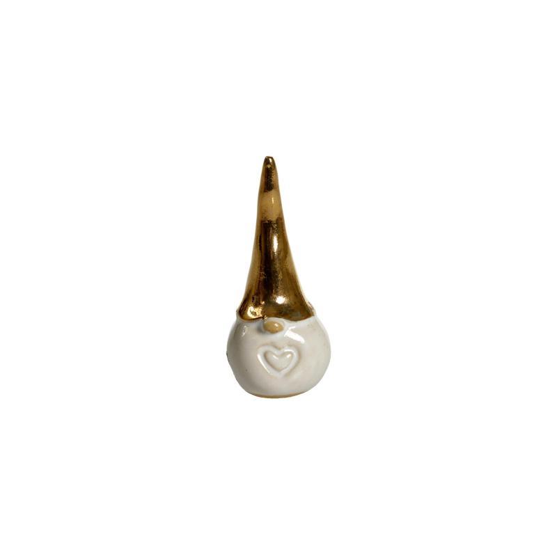 Tomte Guld hjärta H.6cm