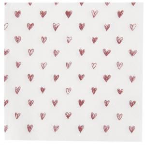 Servetter med röda hjärtan,  Ib Laursen