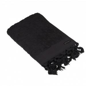 Handduk svart, 50x70 cm