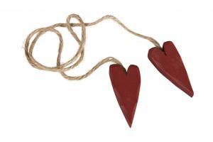 Trähjärtan (2 mörkröda i rep)