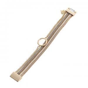 Armband, 4 metallänkar i guld/silver (Gemini)