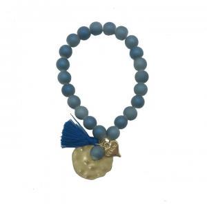 Armband, Elastiskt i jeansblått (Gemini)