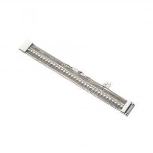 Armband, 1 rem med strass, 1 rem med pärlor + 2 kedjor i silver - Gemini