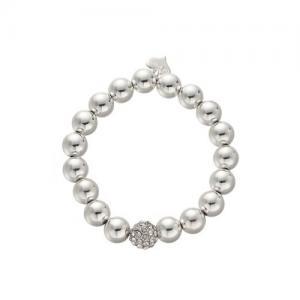 Armband, Elastiskt med silverkulor - Gemini