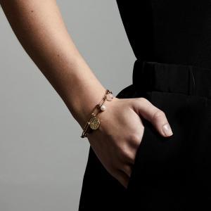 Armband - Warmth, Guldpläterad, Brown - Pilgrim