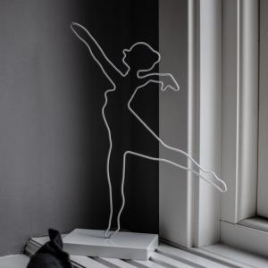 Ballerina, Vit dekoration Siluett- Storefactory