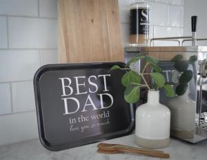 Bricka: Best Dad in the world - Mellow Design (rektangulär)