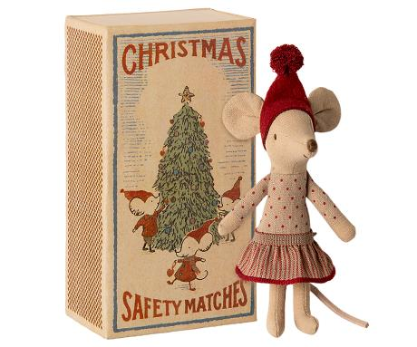 CHRISTMAS MOUSE IN BOX - BIG SISTER (Maileg)