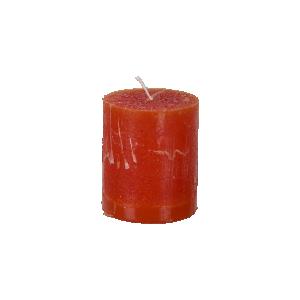 Blockljus Mörkorange Ø7xH7.5 cm, Cote Nord - Affari