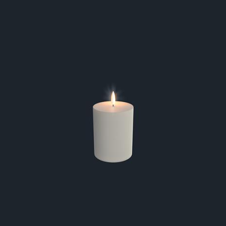 UYUNI Blockljus LED  7,8x12,9cm, IVORY