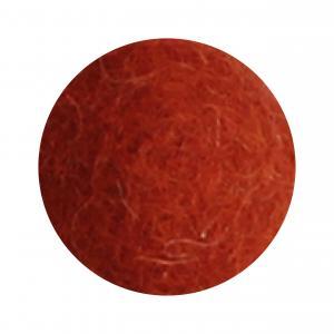 Bränd orange blomma i tovad ull, stor