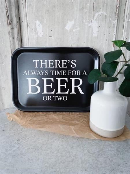 Bricka: There´s always time for a BEER or two - Mellow Design (rektangulär)