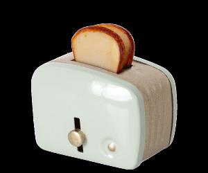 Miniature toaster & bread, mint - Maileg    KOMMER I NOV/DEC